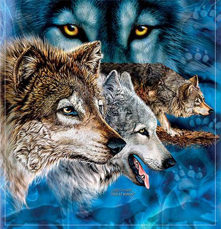 Durchdringender Wolfsblick