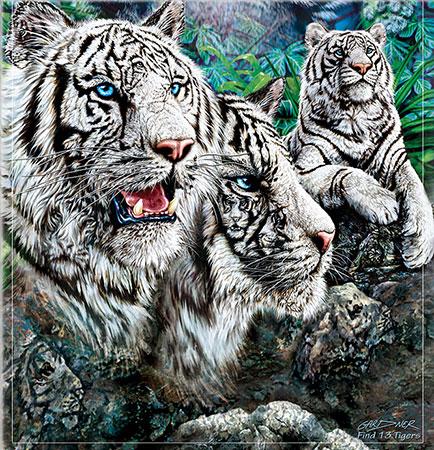 Majestätische Tiger