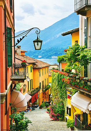 Blick auf den Comer See, Italien