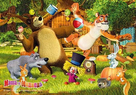 Mascha und der Bär - Spielen im Garten