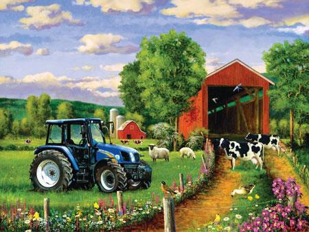 Ländlicher Weg zur Farm