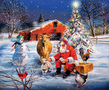 Weihnachten auf der Farm