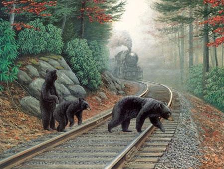 Bären auf dem Gleis