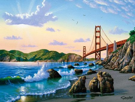 Sunsout 66904 Blick Auf Die Golden Gate Bridge