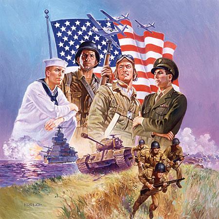 Amerikanische Kampfeinheit