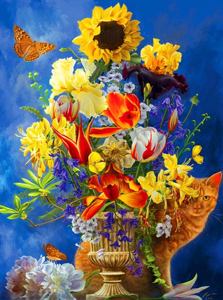 Goldene Sommerblumen