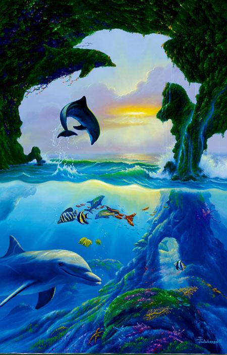 Sieben Delfine