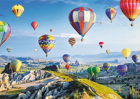 Flug  über Cappadocia