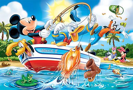 Mickey Maus - Freunde beim Angeln