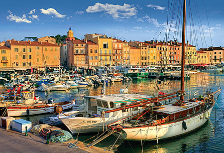 Old Port in Saint - Tropez