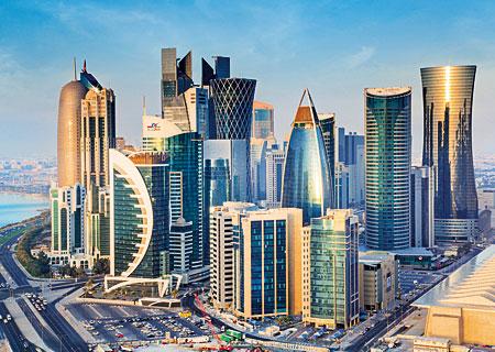 Blick auf Doha