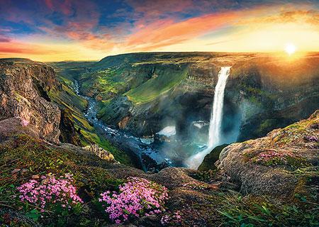 Haifoss Wasserfall, Island
