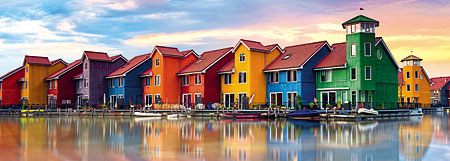Bunte Häuser in Groningen