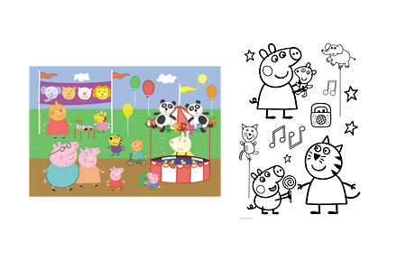 Ausmalpuzzle - Peppa Pig