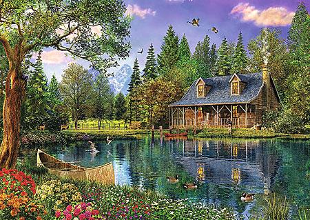 Idyllische Hütte am See