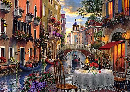 Romantisches Abendessen in Venedig